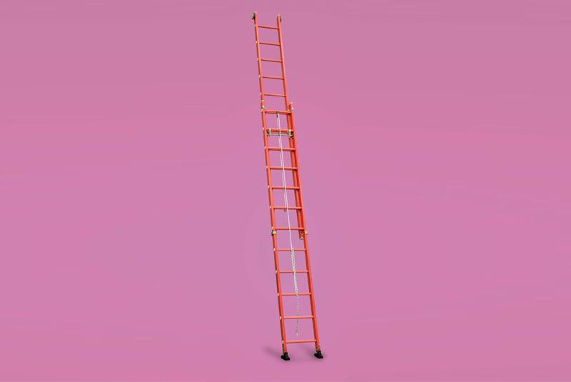 Aguerri escalera extensible con cuerda for Escalera de aluminio extensible 9 metros